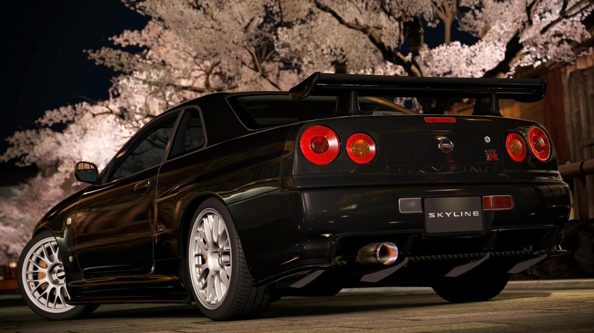 2002 Nissan Skyline GTR R34 VSpec II Nur GT5 by Vertualissimo