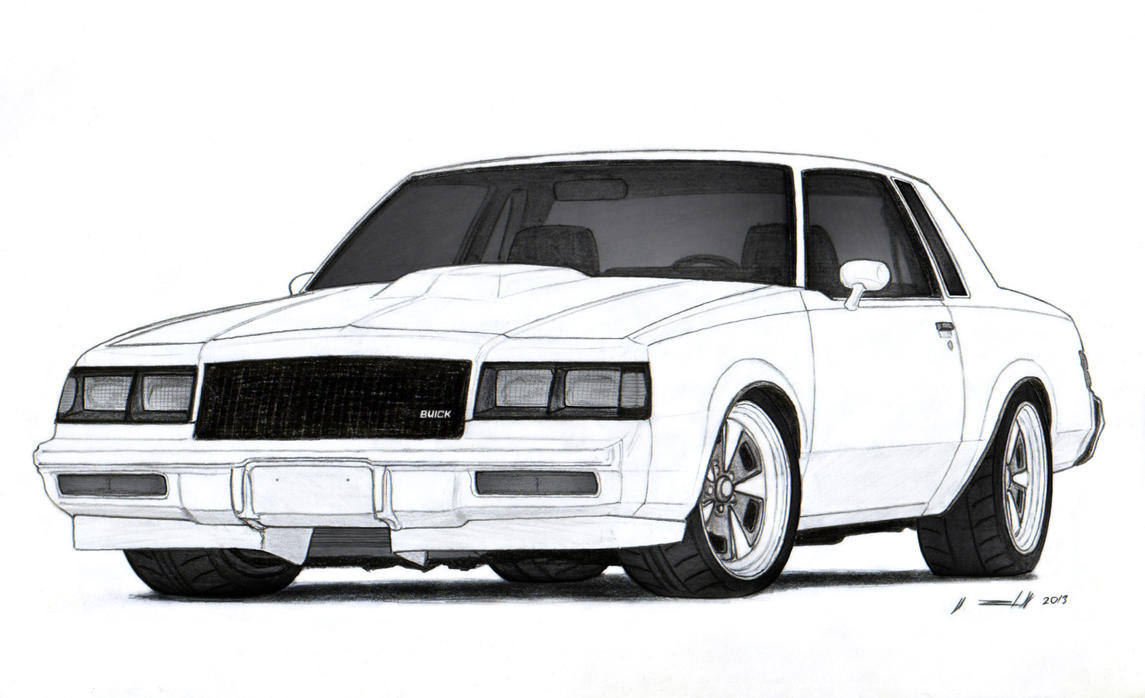1986 Buick Grand National Drawing by Vertualissimo