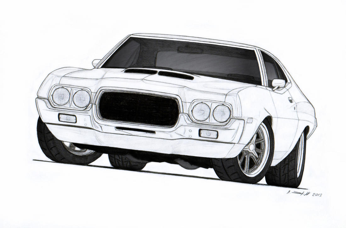 Ford Gran Torino Clint Eastwood >> 1972 Ford Torino Drawing by Vertualissimo on DeviantArt