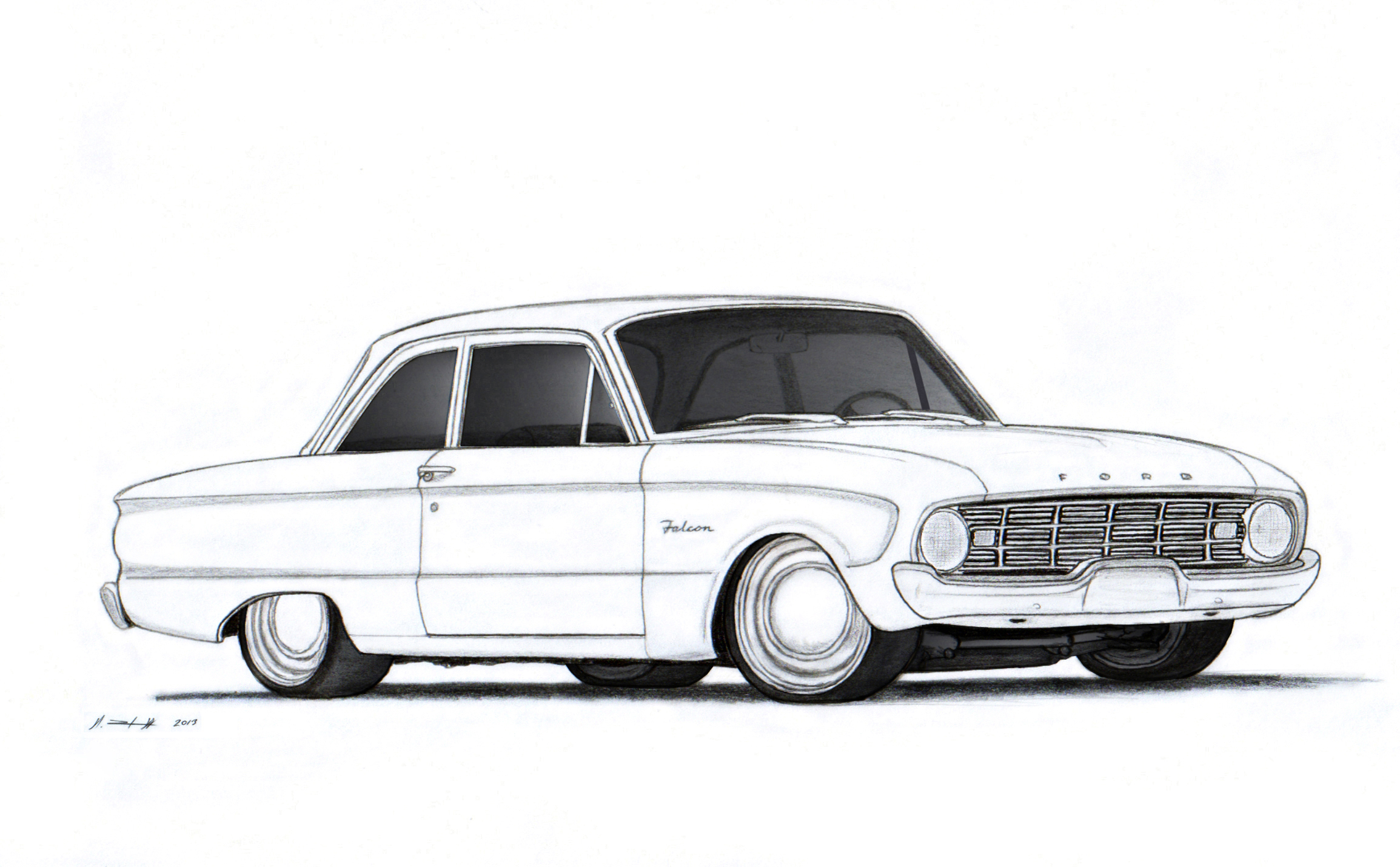 Ford Falcon Drawings