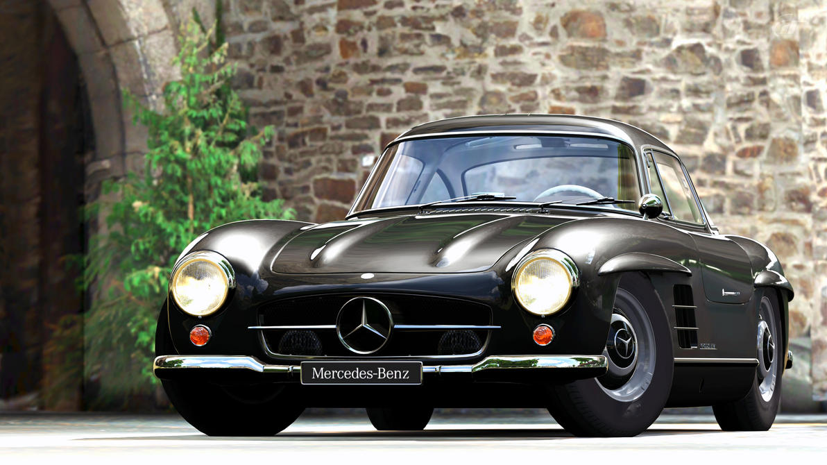 1954 mercedes benz 300sl gullwing gran turismo 5 by vertualissimo on deviantart. Black Bedroom Furniture Sets. Home Design Ideas