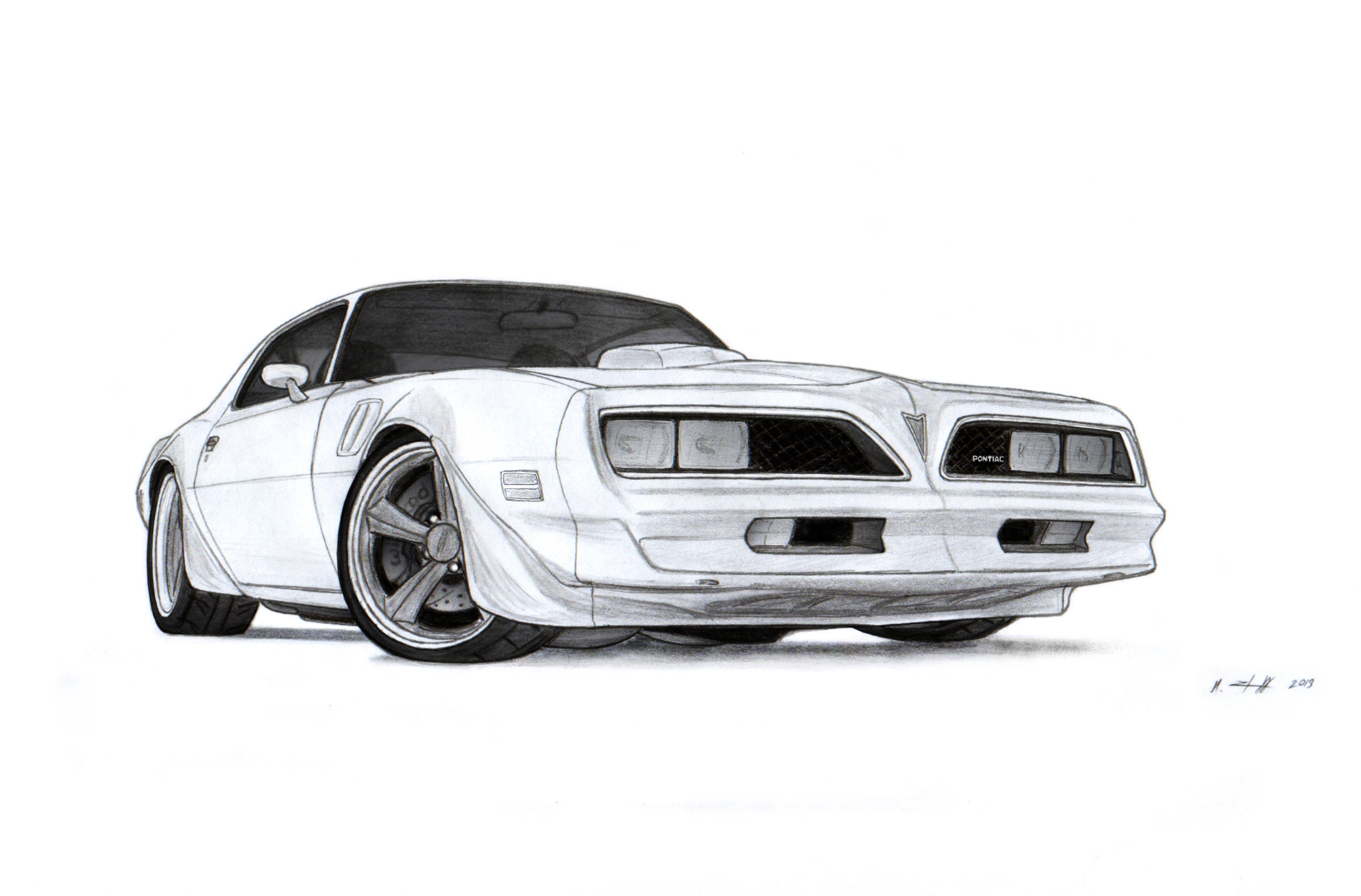 1978 Pontiac Firebird Trans Am Drawing By Vertualissimo On