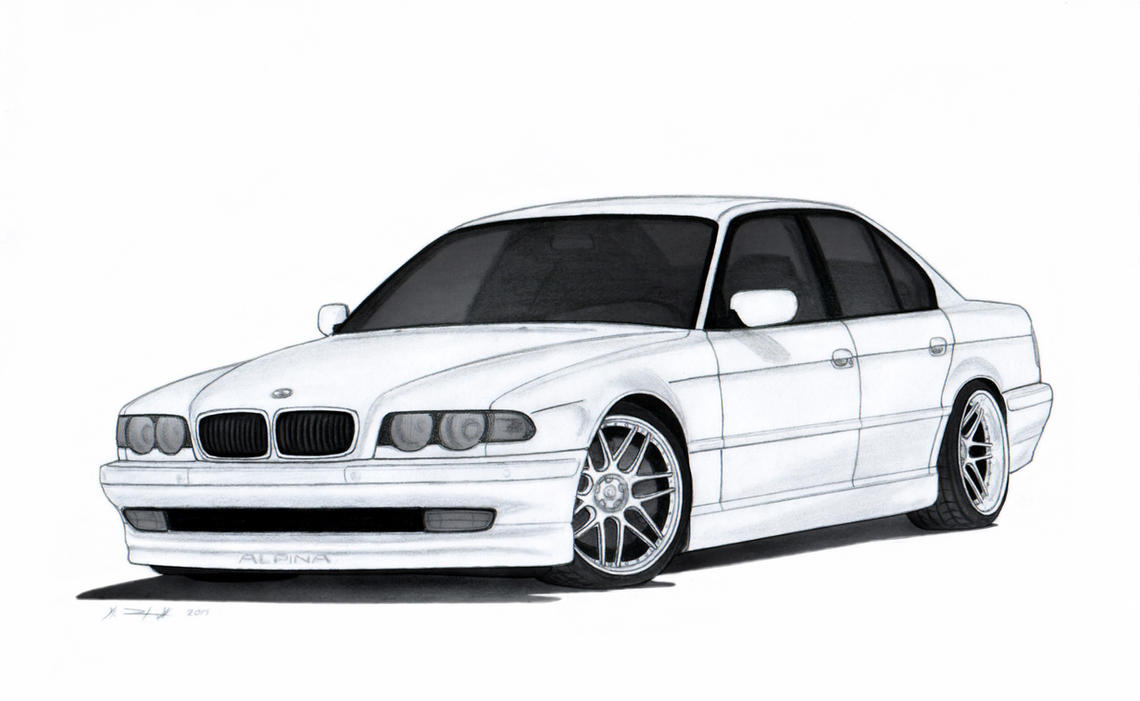 Buick Gnx Tuning >> BMW 740i E38 Drawing by Vertualissimo on DeviantArt