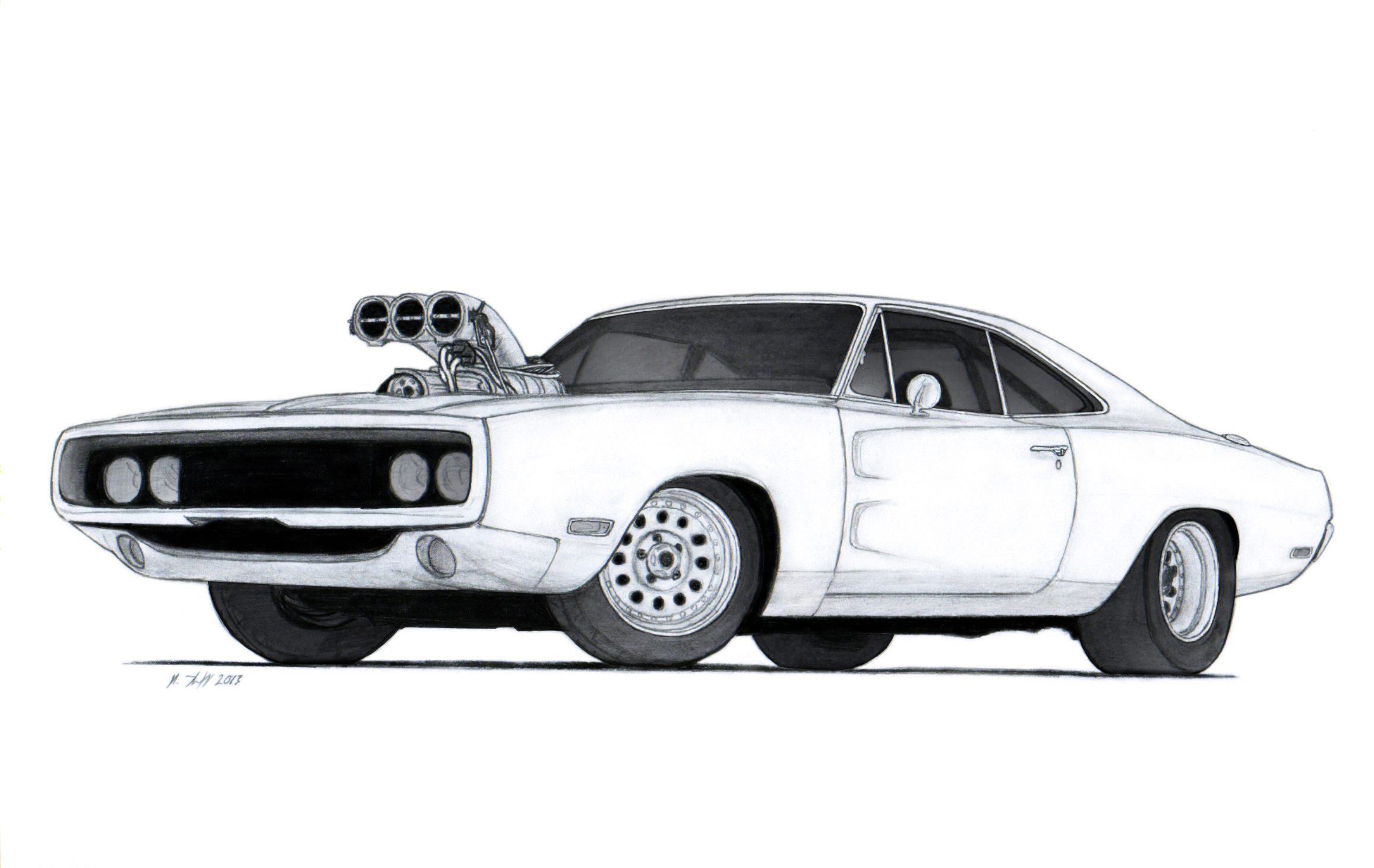 Dodge Charger Drawing Vertualissimo Deviantart