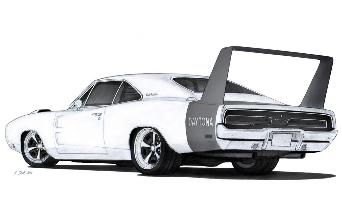 1969 Dodge Charger Daytona Drawing By Vertualissimo On
