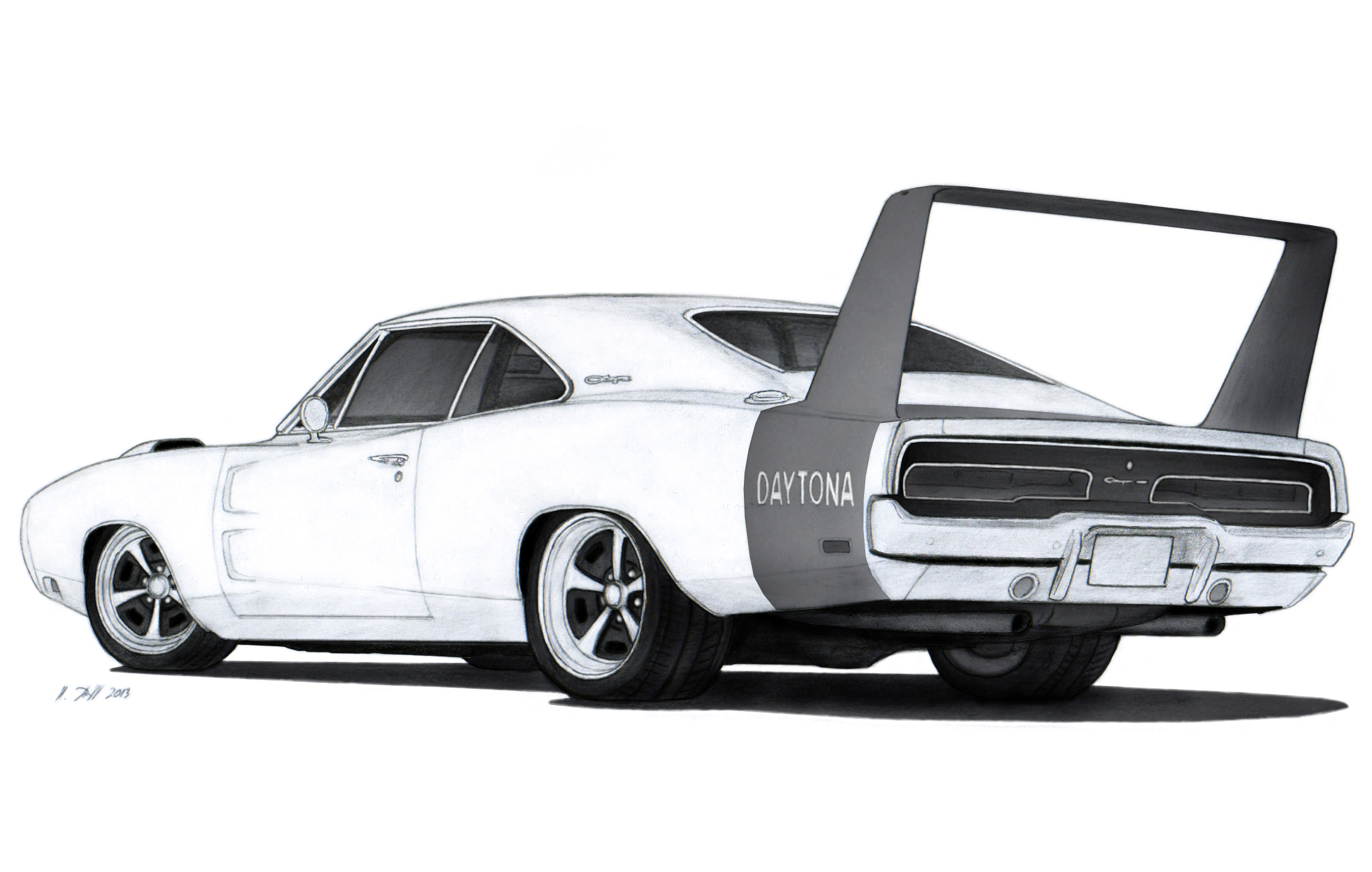 1969 dodge charger daytona drawing by vertualissimo on deviantart. Black Bedroom Furniture Sets. Home Design Ideas