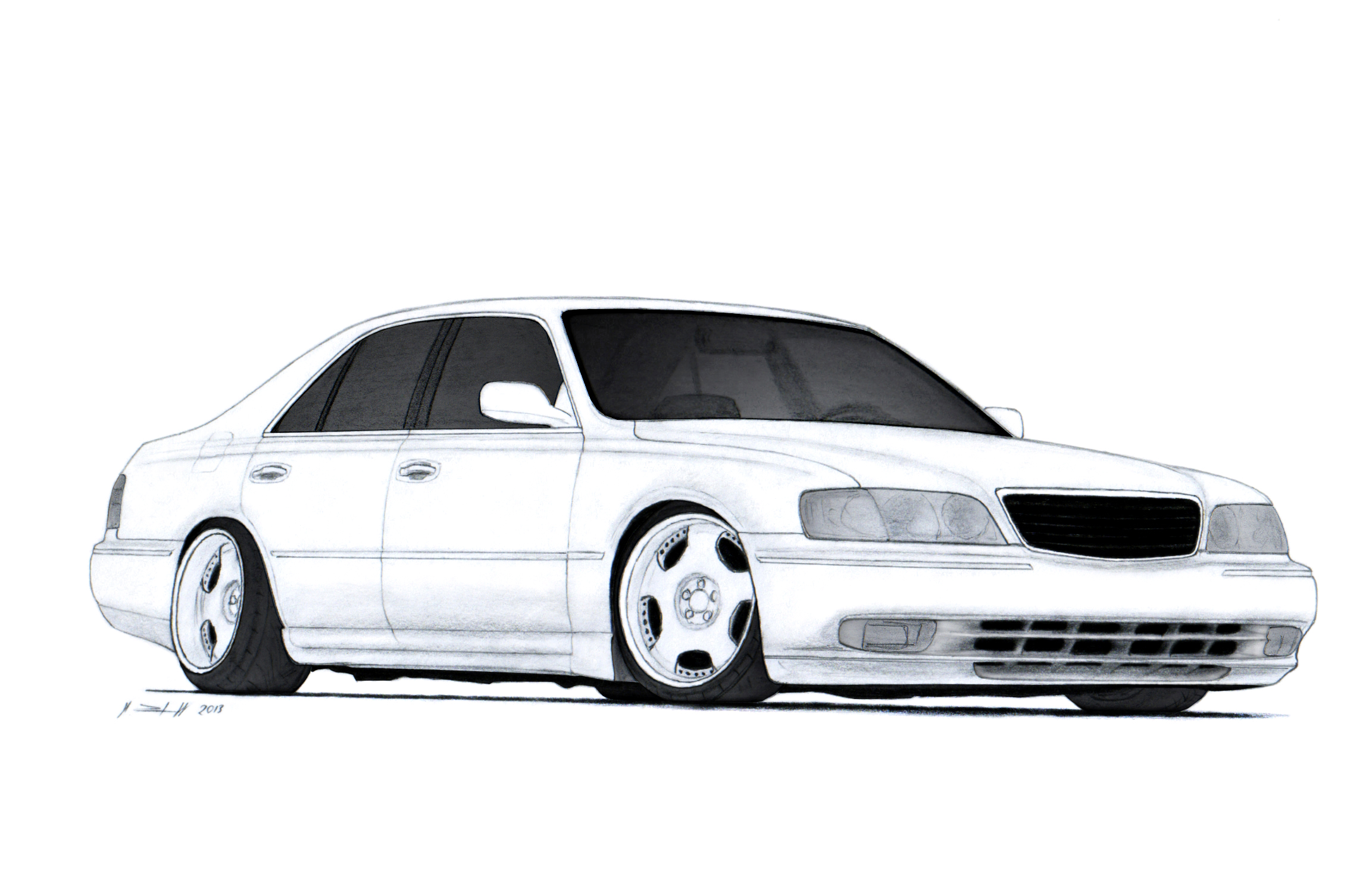 Infiniti Q45 Y33 Vip Style Car Drawing by Vertualissimo on DeviantArt