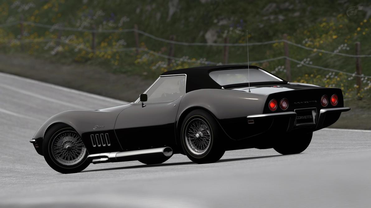 1969 chevy corvette stingray c3 convertible gt6 by vertualissimo - Corvette Stingray 1969 White
