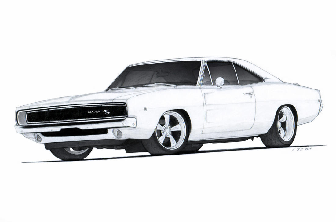 1968 dodge charger r t drawing by vertualissimo on deviantart