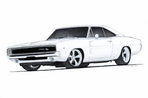 1968 Dodge Charger R/T Drawing by Vertualissimo
