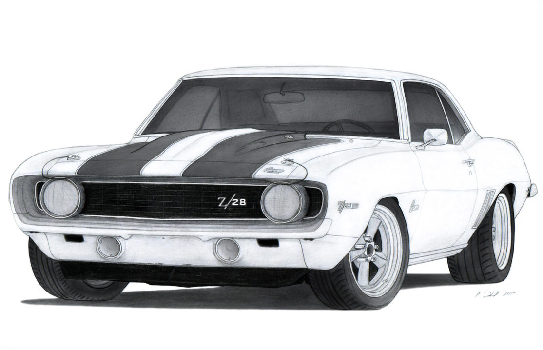 1969 Chevrolet Camaro Z/28 Drawing by Vertualissimo on DeviantArt