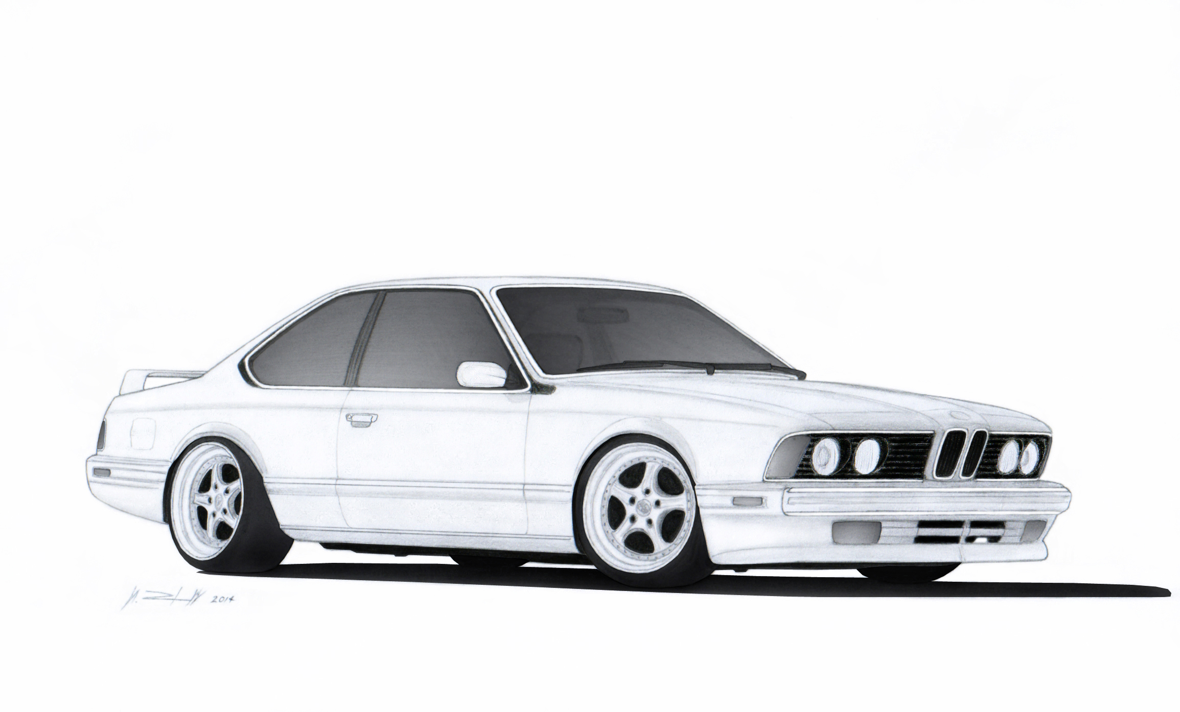 BMW 635 CSi E24 Drawing by Vertualissimo on DeviantArt