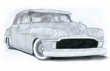 1949 DeSoto Custom Sedan Drawing