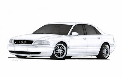 Audi S8 (D2) Drawing