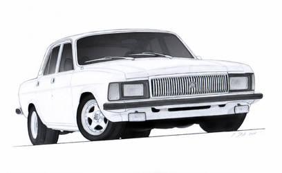 1982 GAZ Volga V8 Drawing