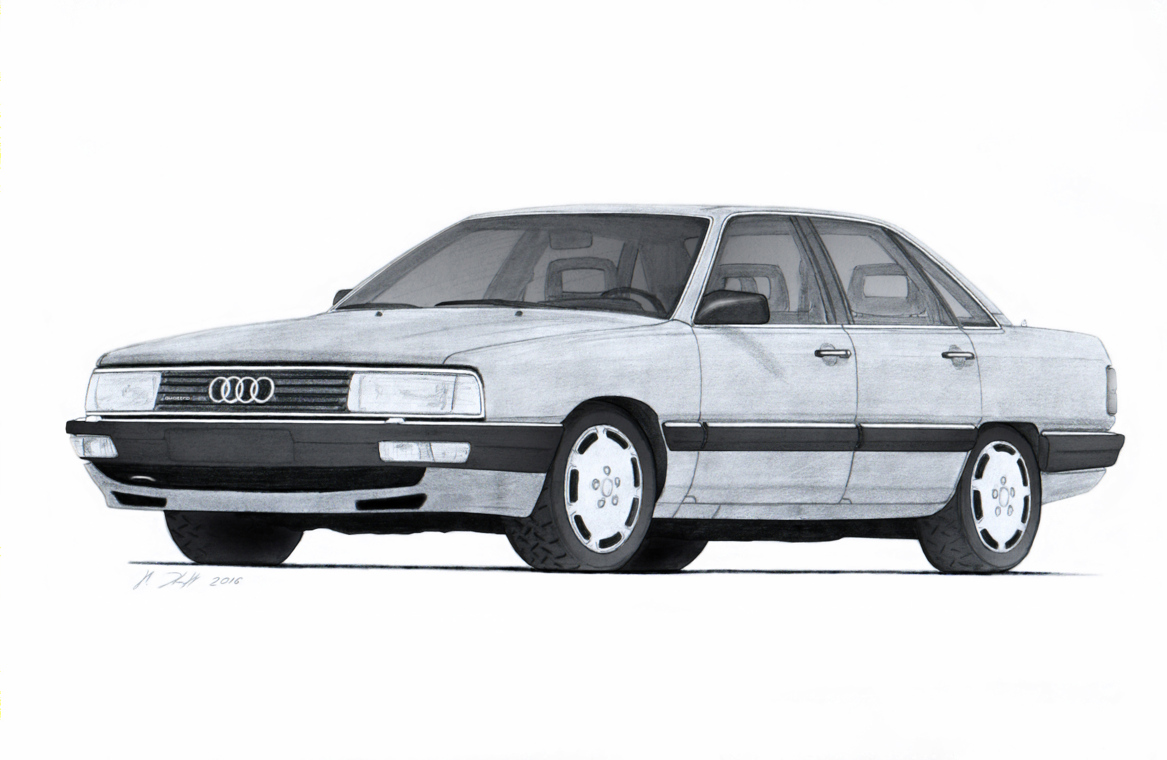 audi 200 turbo quattro 44q drawing by vertualissimo on deviantart. Black Bedroom Furniture Sets. Home Design Ideas