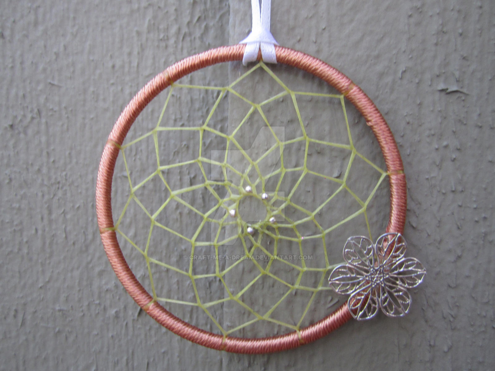 Orange Flower Dream Catcher by Craft-Me-A-Dream