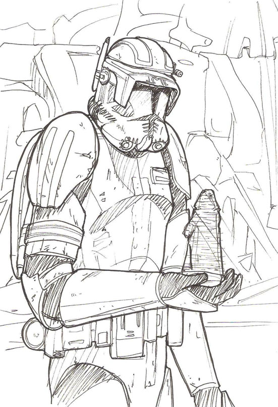 captain cody - free coloring pages