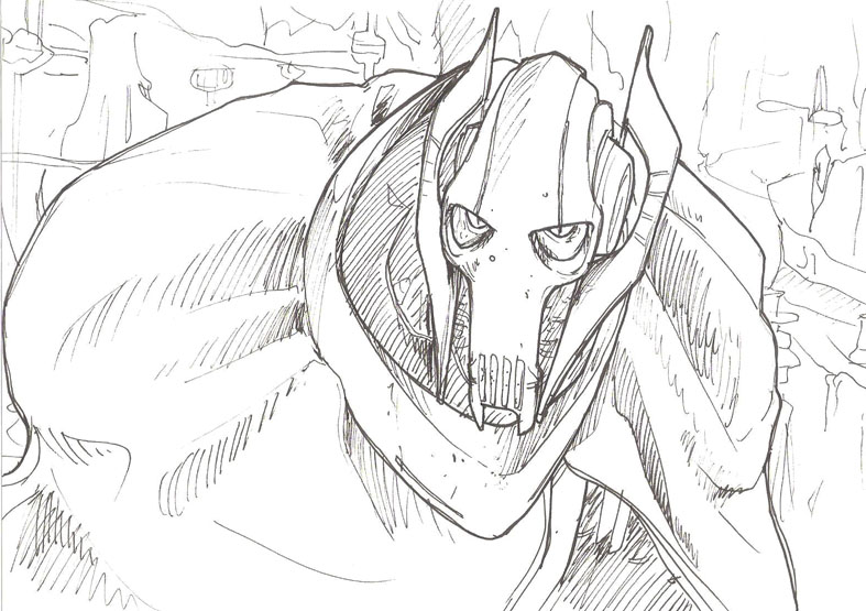 General grievous by luihzumreal on deviantart for General grievous coloring page
