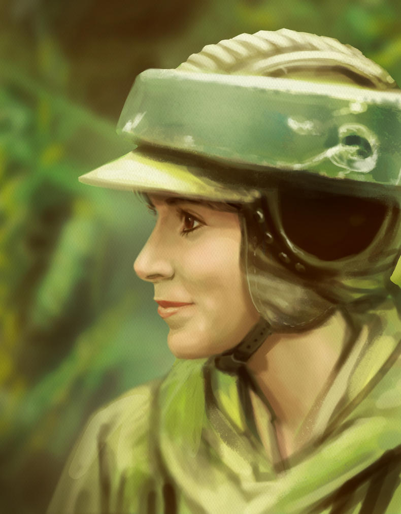 R.I.P Princess Leia by luihzUmreal