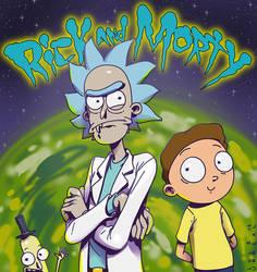Rick and Morty Fanart by luihzUmreal