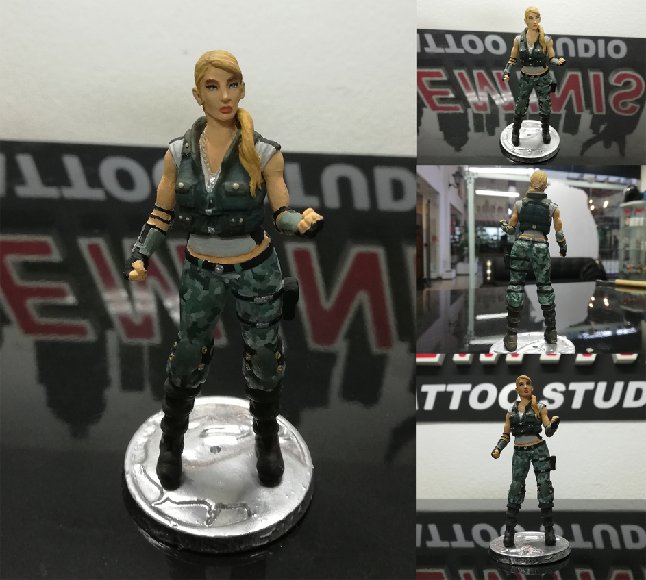 Sonya Blade Mkx Sculpture By Sratitoo On Deviantart