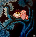 Cheshire Cat Canvas Painting