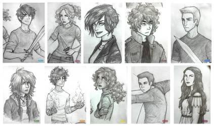 Heroes of Olympus by ah-nada