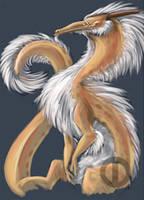 Color Doodlez: Fluff Dragon by Turtle-Arts