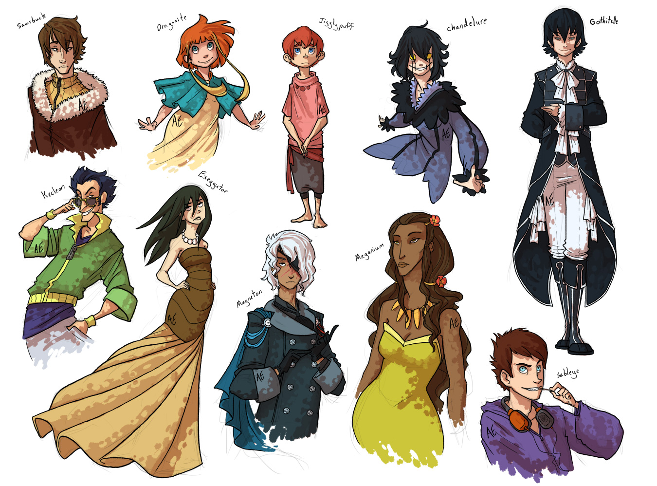 I Accidentally All the Gijinkas Rd. 2 by Turtle-Arts