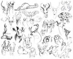 Sketch Dump: Draw All the Animals