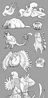 Sketchbook: Animal Requests by Turtle-Arts