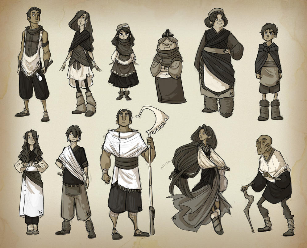 SH: Townsfolk sketches by Turtle-Arts