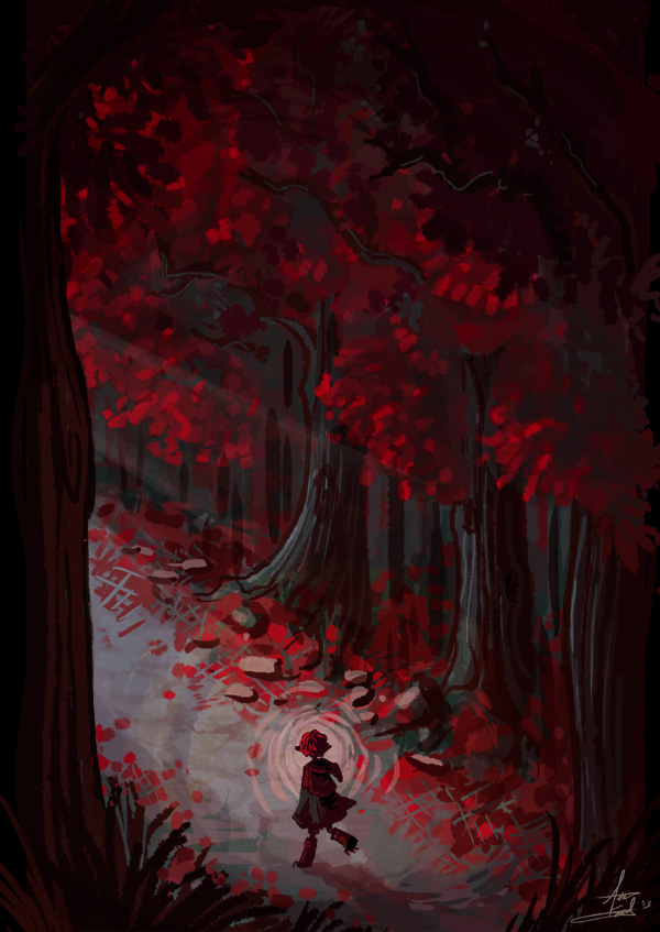 Red Forest by Turtle-Arts