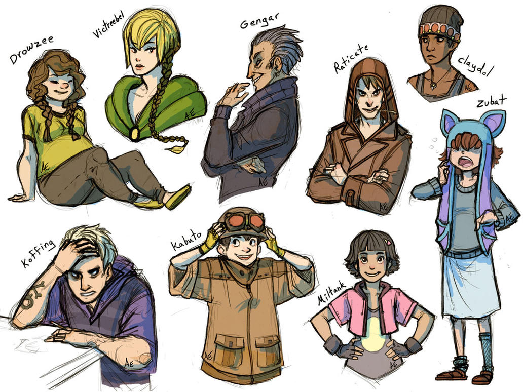 I accidentally all the gijinkas Rd. 4 by Turtle-Arts