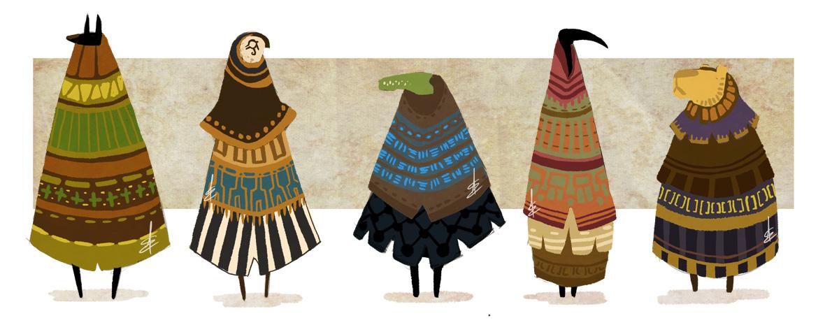 Something like Egyptian Gods by Turtle-Arts