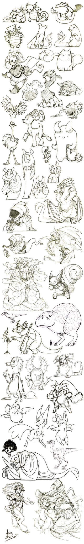 Great Big Sketchdump WInter '13 by Turtle-Arts