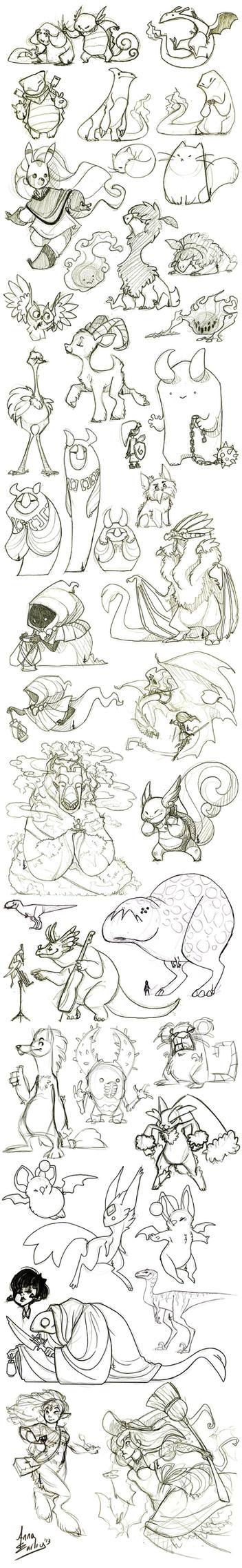 Great Big Sketchdump WInter '13 by Turtle-Arts