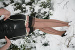Seamed Stockings in the Snow
