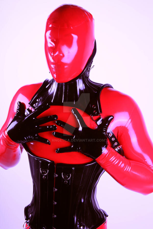 Red and black latex III by Ange1ica