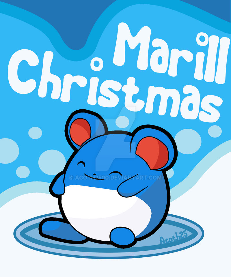 Marill Christmas by Acoth2500 on DeviantArt