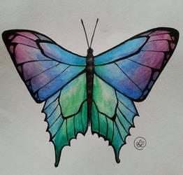 Watercoloured Butterfly