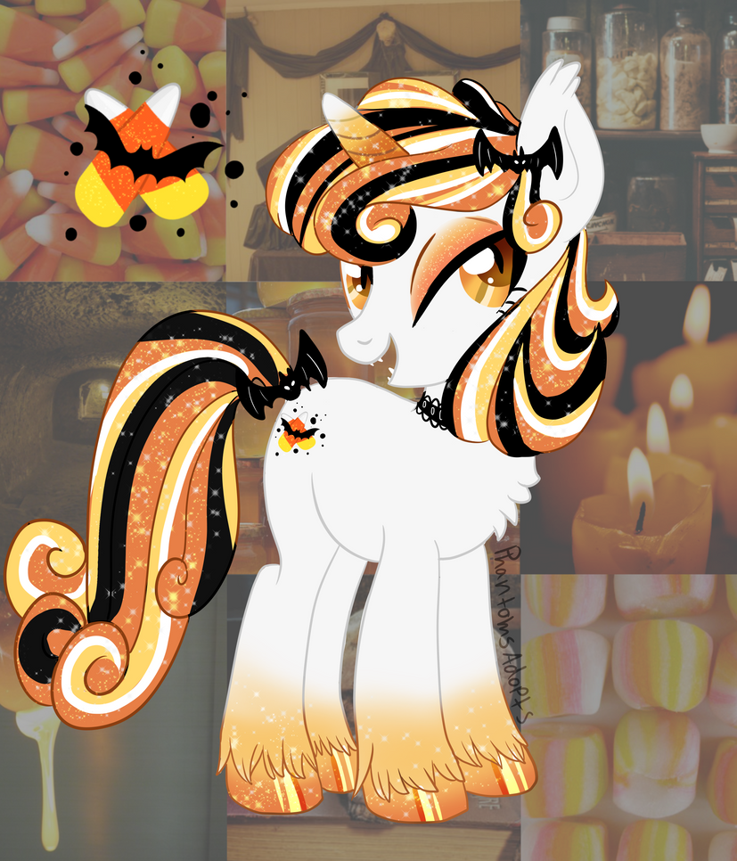 Candy Corn Pony (OPEN) by PhantomsAdopts