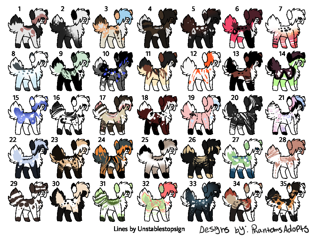 30 Point Adoptables!! by PhantomsAdopts