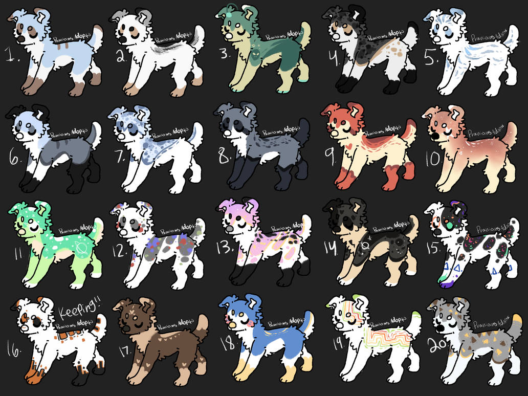 Canine Adopts Set Price (9/20 Open) by PhantomsAdopts