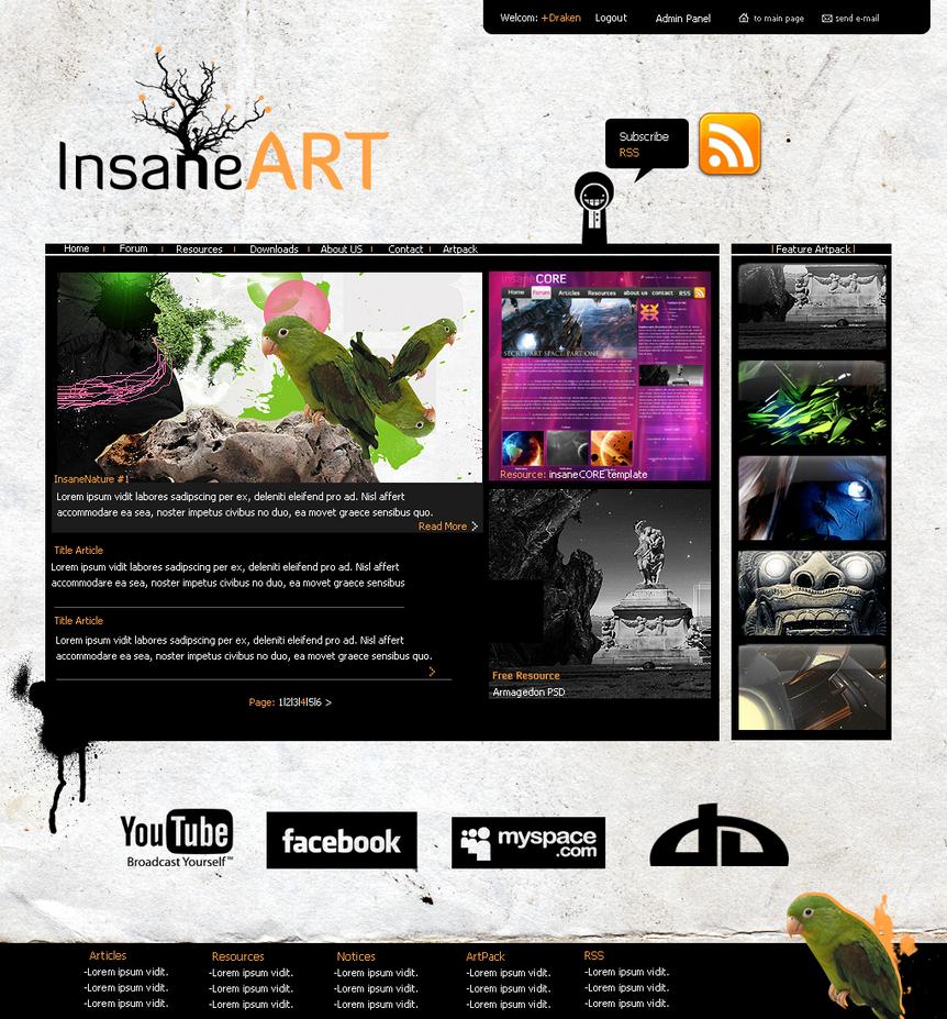 insaneART Website by Drakennodeath