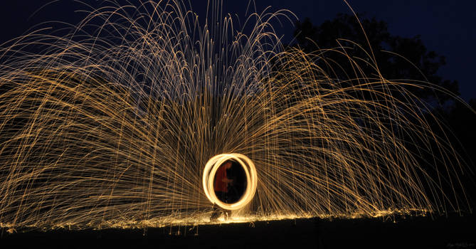 Night-time Sparks -  Poi