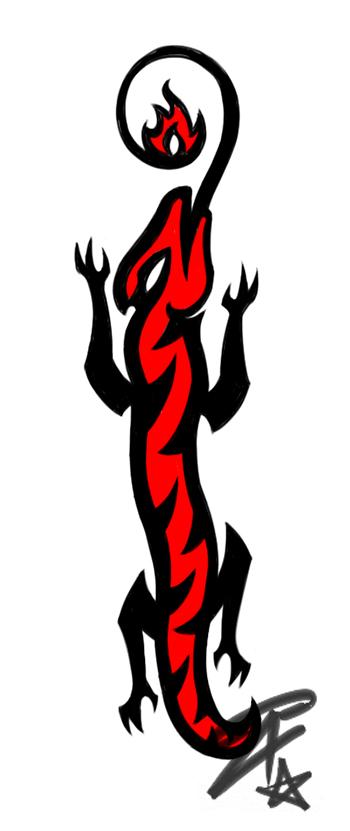 Salamandra - Black_White_Red by AzraelDX