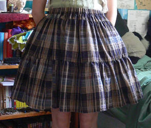 Brown plaid lolita skirt by Luai-lashire