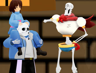 MMD: Of Trash and Font Skeletons by rubexbox